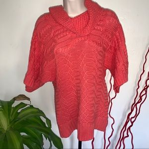 Style & Co. Small Heavy Knitted Salmon Sweater
